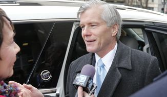 Former Virginia Gov. Bob McDonnell arrives at federal court for sentencing in Richmond, Va., Tuesday, Jan. 6, 2015. McDonnell, once a top Republican prospect for national office, was convicted for selling the influence of his office to the CEO of a dietary supplements company. (AP Photo/Steve Helber) ** FILE **