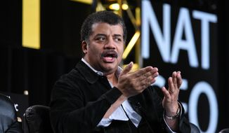 Neil deGrasse Tyson speaks on stage at the National Geographic Channel 2015 Winter TCA on Wednesday, Jan. 7, 2015, in Pasadena, Calif. (Photo by Richard Shotwell/Invision/AP)