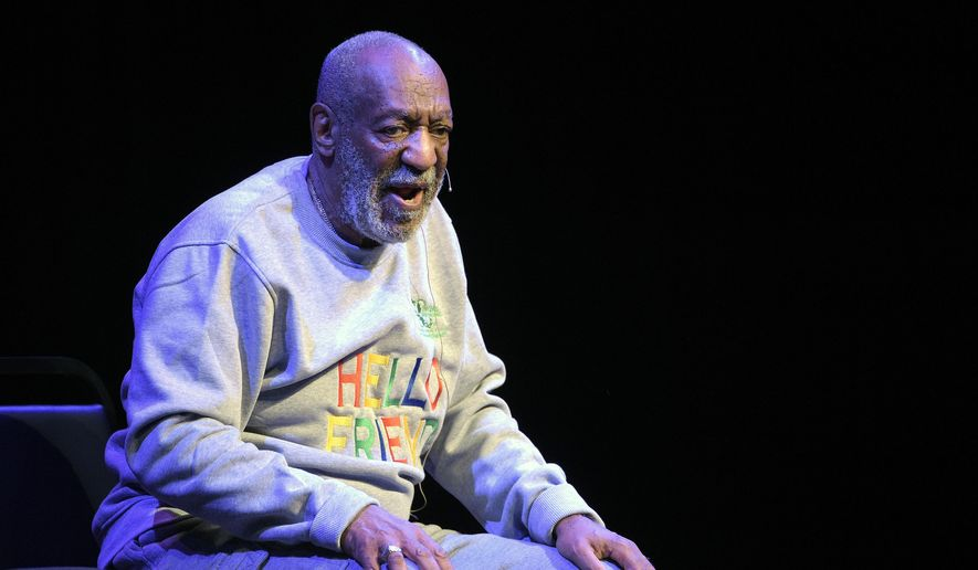 In this Nov. 21, 2014 file photo, Bill Cosby performs during a show at the Maxwell C. King Center for the Performing Arts in Melbourne, Fla. (AP Photo/Phelan M. Ebenhack, File)