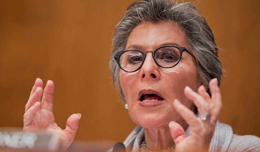 Barbara Boxer, California Democrat, will retired in 2016.  (Associated Press)