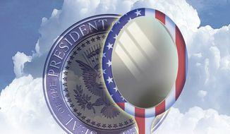 Illustration on aspirants to the presidency by Alexander Hunter/The Washington Times