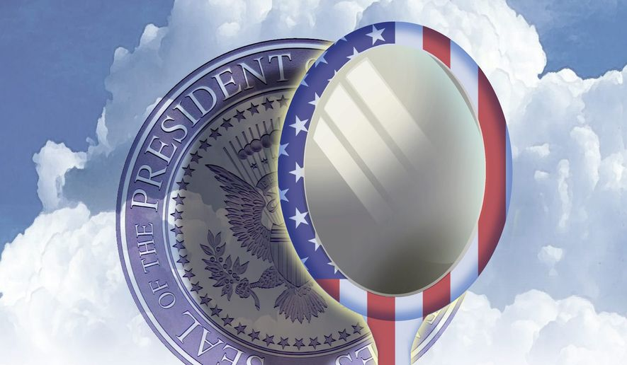 Illustration on aspirants to the presidency by Alexander Hunter/The Washington Times