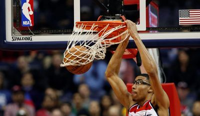 Wizards forward Otto Porter has seen his minutes cut as Martell Webster makes his way back into the rotation from his third career back surgery. Porter did not play Jan. 2 against Oklahoma City after playing just eight minutes against Dallas. (Associated Press)