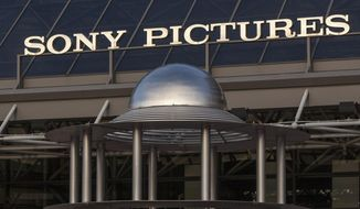 This Dec. 19, 2014, file photo shows an exterior view of the Sony Pictures Plaza building in Culver City, Calif. (AP Photo/Damian Dovarganes, File)