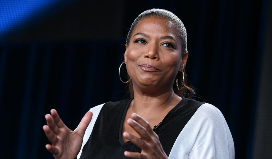 "Queen Latifah speaks on stage at HBO 2015 Winter TCA on Thursday, Jan. 8, 2015, in Pasadena, Calif. Executive Producer, Latifah, also stars as Bessie Smith in the HBO Films drama, ""Bessie,"" debuting Spring 2015. (Photo by Richard Shotwell/Invision/AP)"