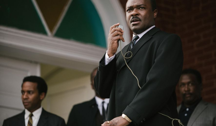 "In this image released by Paramount Pictures, David Oyelowo portrays Dr. Martin Luther King, Jr. in a scene from ""Selma,"" a film based on the slain civil rights leader. (AP Photo/Paramount Pictures, Atsushi Nishijima)"