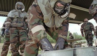 HAZARDOUS: Fort McClellan in Alabama was the site of the only military facility in the U.S. to use live chemical weapons such as sulfur mustard and nerve agents. (Associated Press)