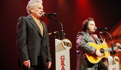 Ralph Stanley 87, is a Virginia-bred bluegrass icon whose music has influenced a flood of successful musicians over the years, but his brand seems to be losing fans and record sales to younger, sure-fire country hit makers: the formulaic mashups. (Associated Press)