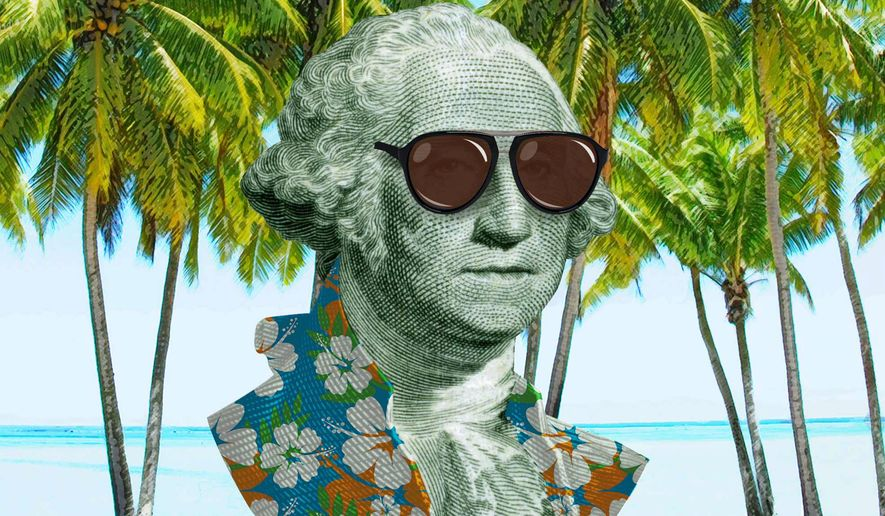 George Washington in the Cayman Islands Illustration by Greg Groesch/The Washington Times