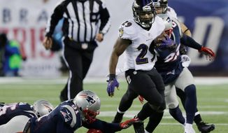 Running back Justin Forsett provided stability to a Ravens rushing attack that flourished without Ray Rice. (Associated Press)