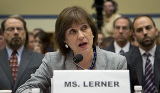 The tea party targeting scandal exploded onto front pages in May 2013 after Lois G. Lerner, head of a division charged with scrutinizing applications for tax-exempt status, planted a question at a law forum so she could break news of the activity. (Associated Press)
