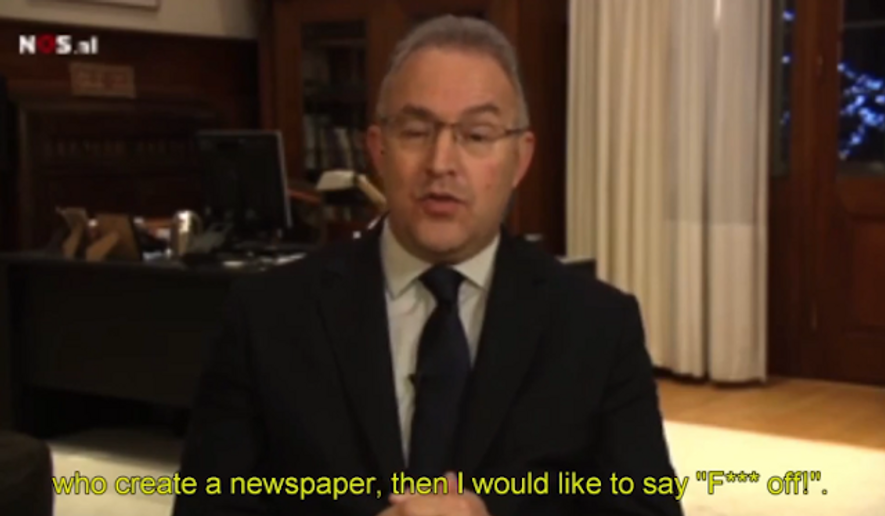 "Rotterdam Mayor Ahmed Aboutaleb didn't hold back last week in telling Islamist extremists to ""f--- off"" on live television. (Nieuwsuur via Daily Mail)"