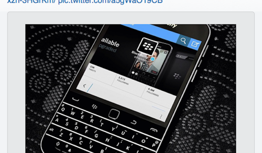 """BlackBerry's official Twitter account has just deleted a tweet that was sent out via iPhone, its top competitor. The message, """"Twitter for iPhone,"""" that outed BlackBerry's mistake isn't typically visible in the regular Twitter app, but can be seen using Tweetbot, Tweetdeck and other third-party clients. (The Verge)"""