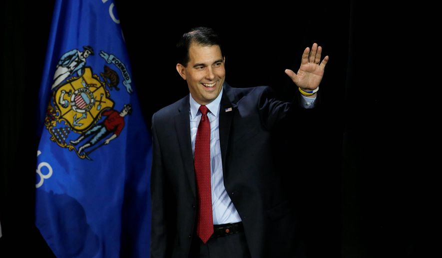 Wisconsin Republican Gov. Scott Walker (Associated Press) **FILE**