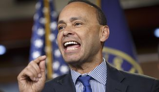 Rep. Luis Gutierrez, Illinois Democrat and leading advocate in the House for comprehensive immigration reform, leads a news conference with fellow Democrats on the implementation of President Barack Obama's executive actions to spare millions from immediate deportation on Capitol Hill in Washington on Jan. 13, 2015. (Associated Press) **FILE**