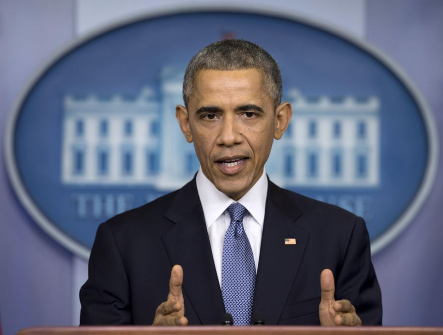 In this Dec. 19, 2014, President Obama speaks during a news conference in the Brady Press Briefing Room of the White House in Washington to talk about successes in 2014, citing lower unemployment, a rising number of Americans covered by health insurance, and an historic diplomatic opening with Cuba. The Obama administration is putting a large dent in the U.S. embargo against Cuba as of Friday, significantly loosening restrictions on American trade and investment. The new rules also open up the communist island to greater American travel and allow U.S. citizens to start bringing home small amounts of Cuban cigars after more than a half-century ban. (AP Photo/Carolyn Kaster, File)