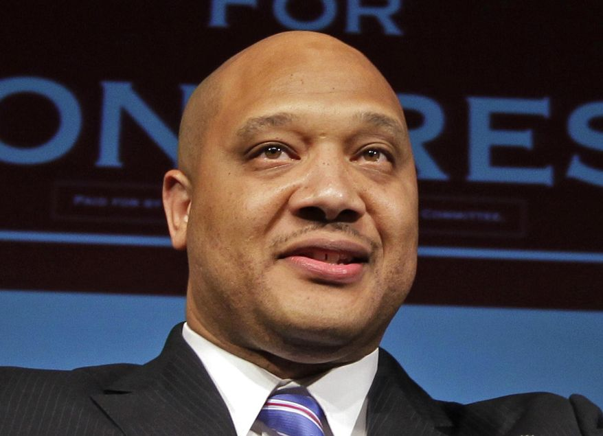 Rep. Andre Carson, D-Ind., speaks in Indianapolis in this Nov. 6, 2012, file photo. (AP Photo/Michael Conroy, File)