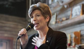 "Freshman Sen. Joni Ernst, Iowa Republican, has been tapped by the party to deliver rebuttal comments to President Obama's State of the Union address. Mrs. Ernst said that she ""never would have imagined"" that she would have the chance to rebut Mr. Obama. (Associated Press) ** FILE **"