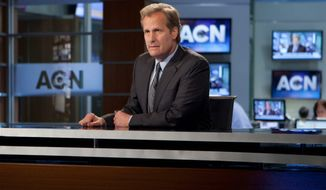 """This isn't a right or left message. I wish people would understand that. It's not about politics,"" Jeff Daniels said of his role as news anchor Will McAvoy. (Associated Press)"
