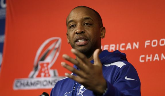 Former Howard University quarterback and NFL offensive coordinator Pep Hamilton is the coach and general manager of the new XFL franchise, which announced on Wednesday that its name will be the DC Defenders. (AP Photo/Michael Conroy) ** FILE **