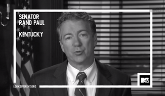 U.S. Sen. Rand Paul appeared in a black and white TV spot for MTV on Monday, calling for a unified America in honor of Martin Luther King, Jr. (MTV)