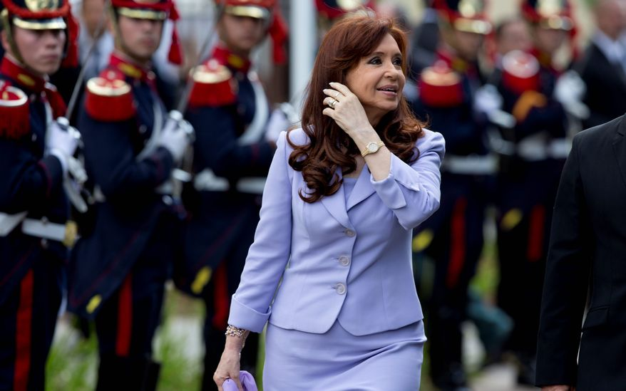 President Cristina Fernandez is facing crisis in Argentina as crime spikes and the economy continues to decline. The term-limited president, already a lame duck, is set to leave office in December. But her political allies must win the Oct. 25 general election to shield her from likely prosecution over a myriad of corruption allegations. (Associated Press)