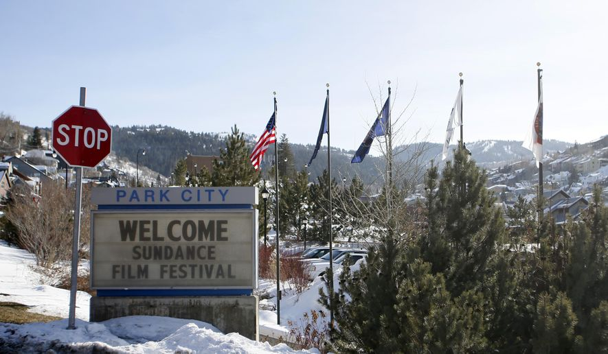 FILE - In this Jan. 16, 2014 file photo, a sign outside of the Main Street area welcomes people to the 2014 Sundance Film Festival in Park City, Utah. Celebrating its 31st year, the festival has steadily outgrown its indie-film roots to showcase emerging and established talent in art, music, television, film and new media. The 2015 Sundance Film Festival runs Jan. 22 through Feb. 1, 2015. (Photo by Danny Moloshok/Invision/AP, File)