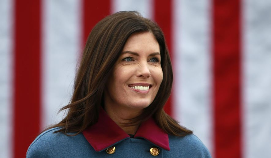 Pennsylvania Attorney General Kathleen Kane walks to hear Tom Wolf take the oath of office to become the 47th governor of Pennsylvania, Tuesday, Jan. 20, 2015, at the state Capitol in Harrisburg, Pa. (AP Photo/Matt Rourke)