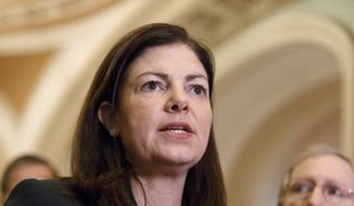 """What is his proposal of what he wants to be in the AUMF? He's the commander in chief so I am glad, I believe we should be looking at authorizing force, however I want to know what is his plan for success,"" said Sen. Kelly Ayotte, New Hampshire Republican. ""That is a fair question and we have not seen that from the president yet."" (Associated Press)"