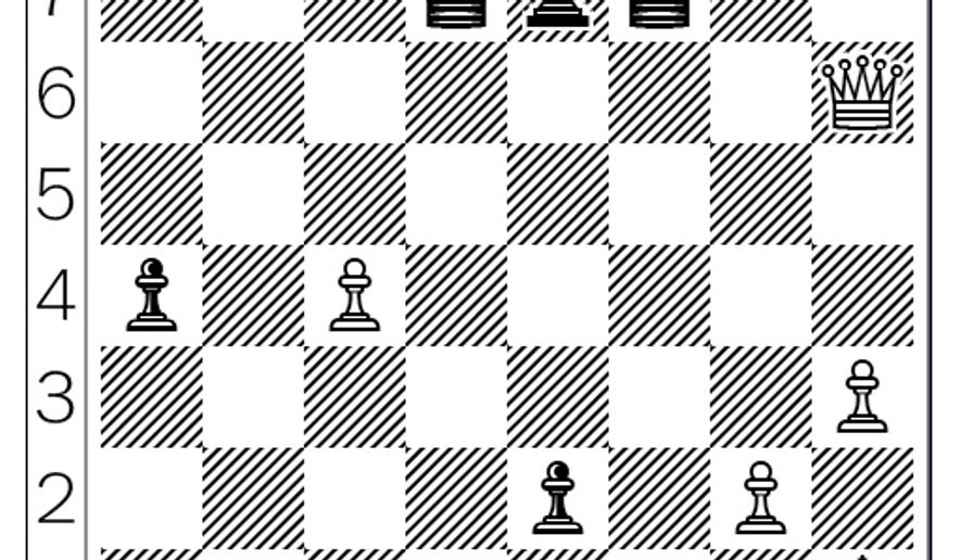 Gunina-Sevian after 56. Qxh6.