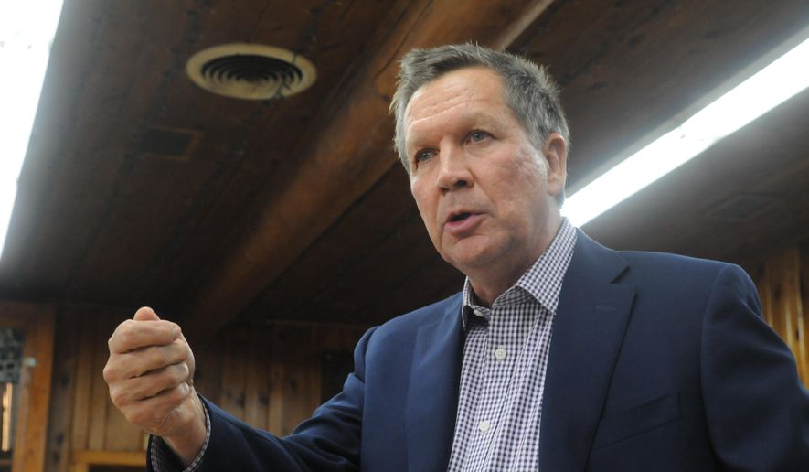 Ohio Gov. John Kasich is traveling the country now as an evangelist for expansion, urging other governors to follow his lead. (AP Photo/James Nord)