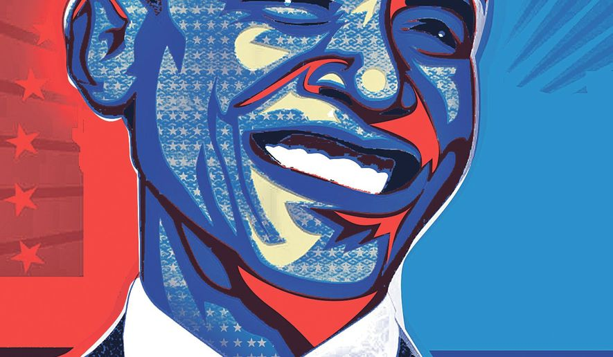 Illustration on Obama's State of the Union Address by Linas Garsys/The Washington Times