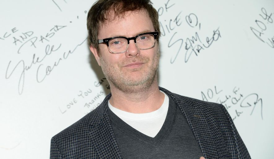 """Actor Rainn Wilson attends AOL's BUILD Speaker Series to discuss his new FOX television series """"Backstrom"""" at AOL Studios on Tuesday, Jan. 20, 2015, in New York. (Photo by Evan Agostini/Invision/AP)"""