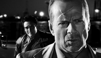 Michael Madsen and Bruce Willis in Sin City
