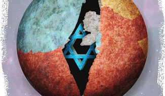 Global Isolation of Israel Illustration by Greg Groesch/The Washington Times