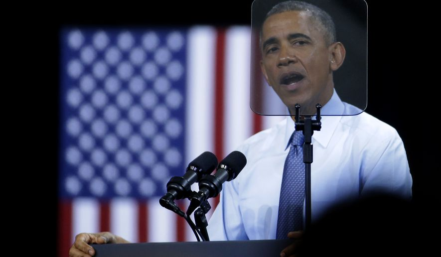 President Barack Obama speaks during a visit to the University of Kansas Thursday, Jan. 22, 2015, in Lawrence, Kansas. Obama was speaking  about the themes in his State of the Union address. (AP Photo/Charlie Riedel)