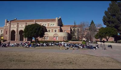 Muslim call to prayer at UCLA campus. Youtube