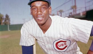 FILE - In this 1970 file photo, Chicago Cubs' Ernie Banks poses. The Cubs announced Friday night, Jan. 23, 2015, that Banks had died. The team did not provide any further details. Banks was 83. (AP Photo/File)