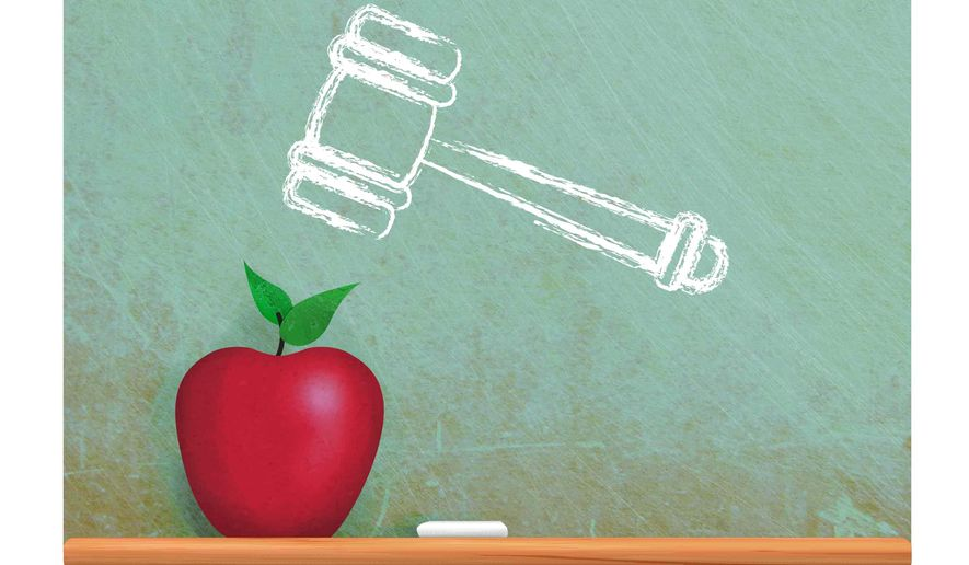 Illustration on school choice by Greg Groesch/The Washington Times