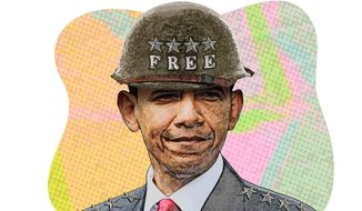 Obama, General of the Free Army Illustration by Greg Groesch/The Washington Times