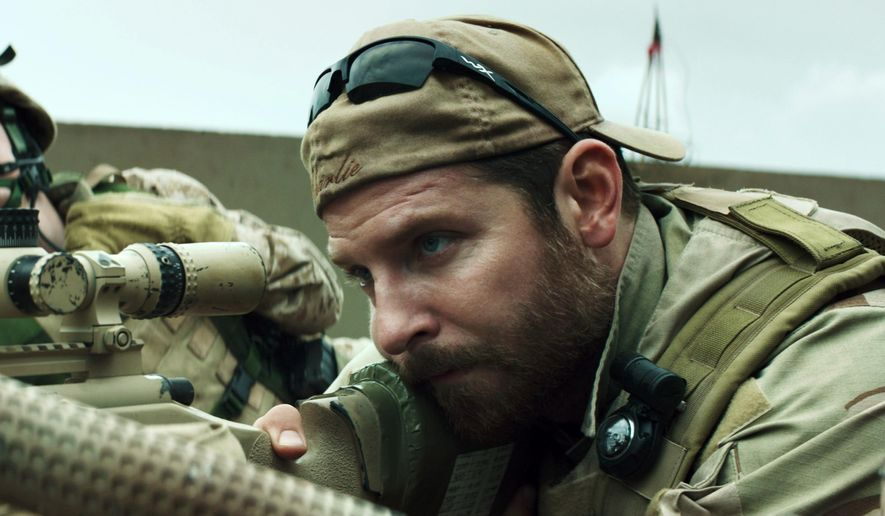 "In this image released by Warner Bros. Pictures, Kyle Gallner, left, and Bradley Cooper appear in a scene from ""American Sniper.""  The film is based on the autobiography by Chris Kyle. (AP Photo/Warner Bros. Pictures) ** FILE **"