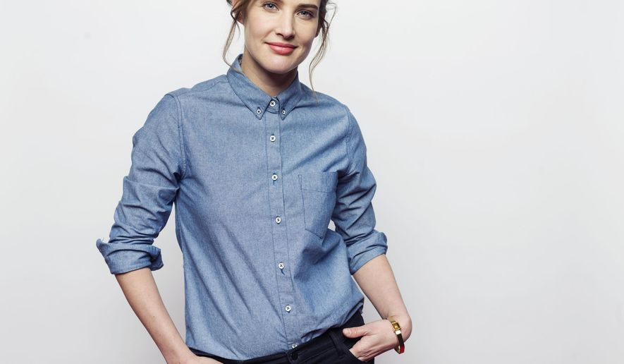 """Cobie Smulders poses for a portrait to promote the film, """"Results"""", at the Eddie Bauer Adventure House during the Sundance Film Festival on Monday, Jan. 26, 2015, in Park City, Utah. (Photo by Victoria Will/Invision/AP)"""