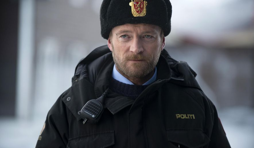 "This image released by Pivot shows Richard Dormer as Sheriff Dan Anderssen in a scene from ""Fortitude."" The 12-hour psychological thriller kicks off with a two-hour premiere Thursday at 10 p.m. EST on Pivot. (AP Photo/Pivot, Amanda Searle)"