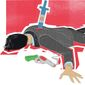 Illustration on Argentine corruption and the death of Alberto Nisman by Linas Garsys/The Washington Times