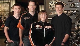 Wisconsin Gov. Scott Walker, wife Tonette and their two sons, Matt and Alex, are all Harley Davidson fans. (Office of Gov. Scott Walker)