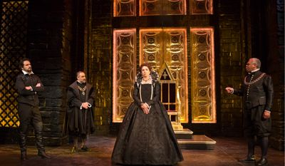 """""""Mary Stuart"""" by Friedrich Schiller reprises a time when men wielded power and the religious conflict between Protestants and Catholics waged fiercely. (Folger Shakespeare Library)"""