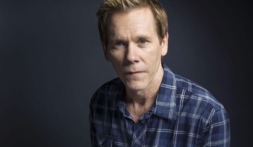 "Kevin Bacon poses for a portrait to promote the film, ""Cop Car,"" at the Eddie Bauer Adventure House during the Sundance Film Festival on Saturday, Jan. 24, 2015, in Park City, Utah. (Photo by Victoria Will/Invision/AP)"