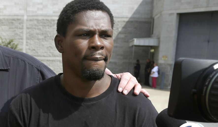 FILE - In this Aug. 27, 2014, file photo, Boxer Jermain Taylor walks from the Pulaski County Jail in Little Rock, Ark. Taylor must undergo a mental evaluation, an Arkansas judge said Tuesday, Jan. 27, 2015.  Pulaski County Circuit Judge Leon Johnson granted a request from Taylor's attorneys that Taylor be moved to a state hospital for a full evaluation, the Arkansas Democrat-Gazette reported. (AP Photo/Danny Johnston, File)