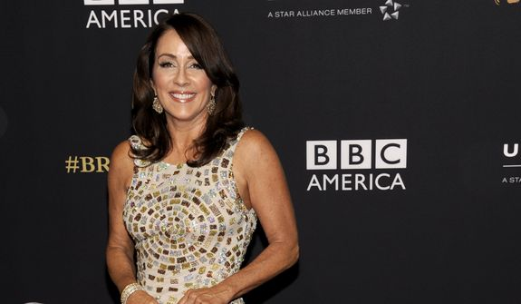 Patricia Heaton arrives at the BAFTA Los Angeles Britannia Awards at the Beverly Hilton Hotel on Thursday, Oct. 30, 2014, in Beverly Hills, Calif. (Photo by Chris Pizzello/Invision/AP)