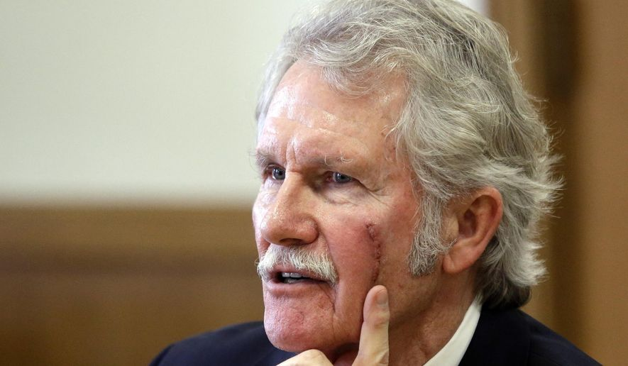 Oregon Gov. John Kitzhaber speaks during a legislative forum at the Capitol in Salem, Ore., Tuesday, Jan. 27, 2015.  Kitzhaber and legislative leaders outlined their priorities for the 2015 legislative session at a Capitol forum organized by The Associated Press. (AP Photo/Don Ryan)